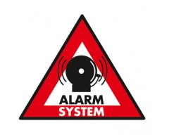 "Samolepka ""Zabezpečeno alarmem"" 123x148 mm"