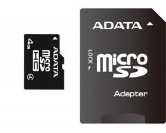 ADATA Micro SDHC karta 4GB Class 4 + SD adaptér