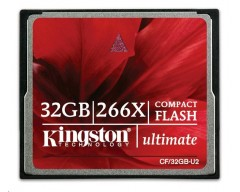 Kingston 32GB Ultimate CompactFlash Card 266x (+Recovery SW)