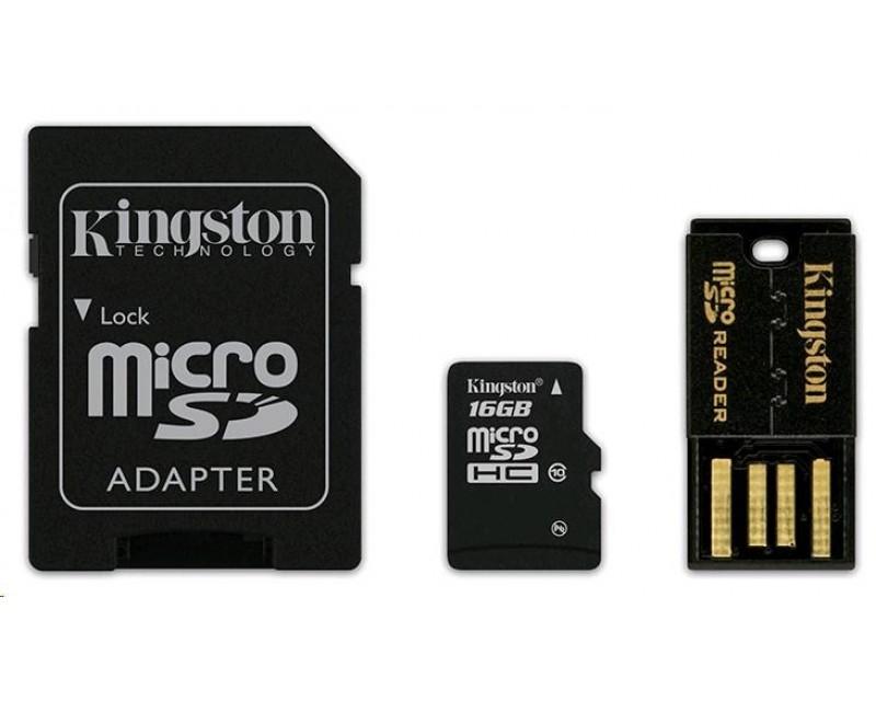 Kingston 16GB Multi Kit / Mobility Kit - MicroSDHC 16GB (Class 10) + USB čtečka + SD adaptér