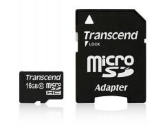 TRANSCEND Micro SDHC Class 10 16GB + adaptér