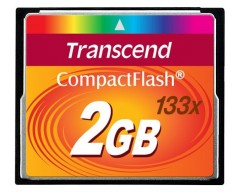 TRANSCEND Compact Flash Card (133x) 2GB