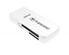 TRANSCEND Card Reader P5, USB 2.0, bílá
