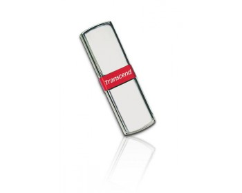 TRANSCEND USB Flash Disk JetFlash®V85, 32GB, USB 2.0, Silver/Red (kovový, s řetízkem) (R/W 18/7 MB/s)
