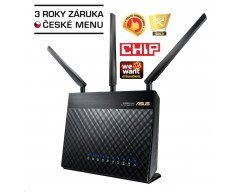 ASUS RT-AC68U Gigabit Dualband Wireless AC1900 Router, 4x gigabit RJ45, 1x USB3.0, 1xUSB2.0